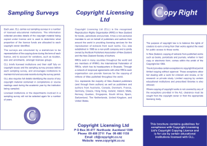 Copyright Licensing Ltd Sampling Surveys