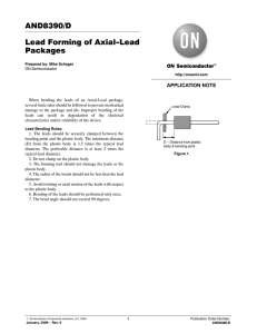 AND8390/D Lead Forming of Axial-Lead Packages