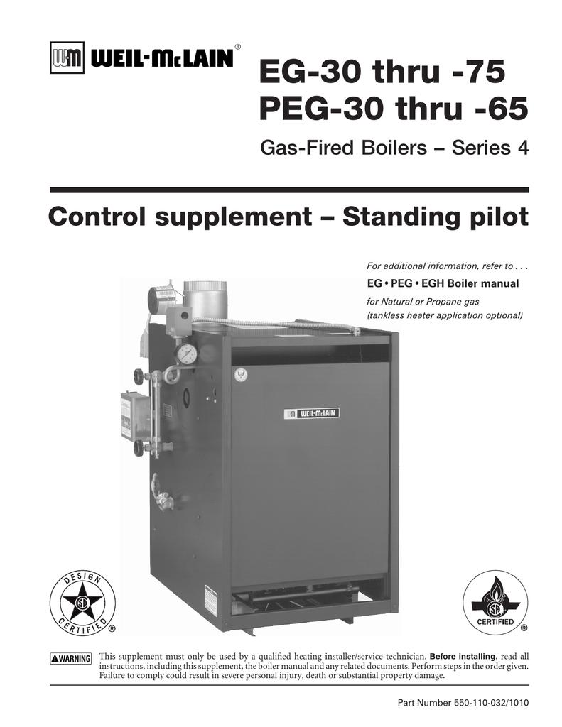 EG Control Supplement - Standing Pilot - Weil on oil boiler diagram, weil mclain controls, boiler installation diagram, weil-mclain spark diagram, weil mclain transformer, weil-mclain boiler diagram,