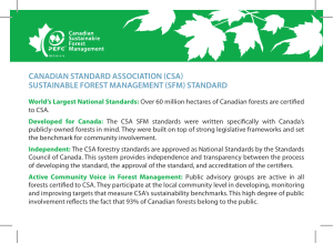 CANADIAN STANDARD ASSOCIATION (CSA) SUSTAINABLE
