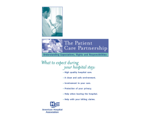 e Patient Care Partnership - American Hospital Association