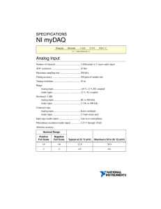 NI myDAQ Specifications
