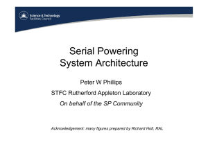 Serial Powering System Architecture - Indico