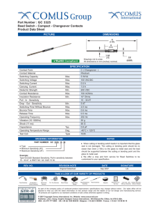 Part Number : GC 3325 Reed Switch - Compact