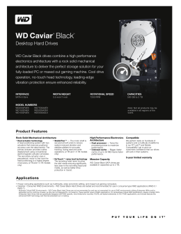 WD Caviar Black Series Disti Spec Sheet
