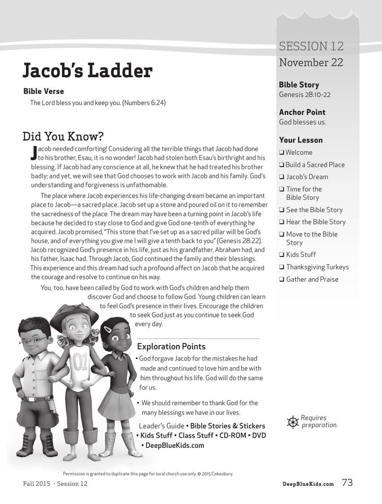 Jacob S Ladder Deep Blue Kids Curriculum
