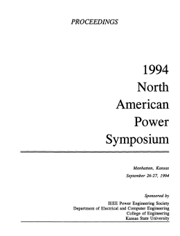 1994 North American Power Symposium