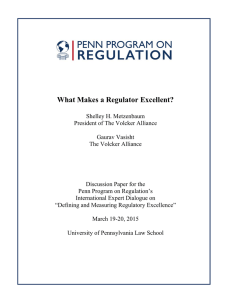 What Makes a Regulator Excellent?