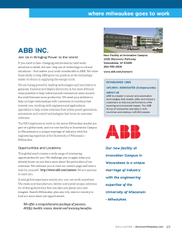 ABB INC. - Discover Milwaukee