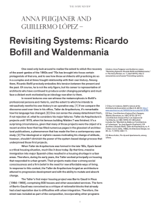 Revisiting Systems: Ricardo Bofill and Waldenmania