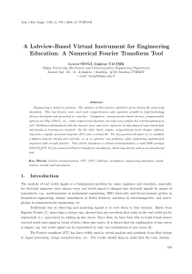 A Labview-Based Virtual Instrument for Engineering
