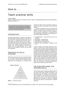 How to . . . Teach practical skills