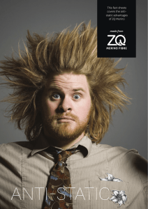 This fact sheets covers the anti- static advantages of ZQ Merino