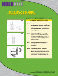 QUICK STRAP® EXPANSION TANK MOUNTING BRACKETS