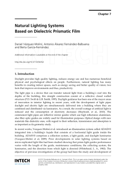 Natural Lighting Systems Based on Dielectric Prismatic Film