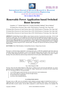 Renewable Power Application based Switched Boost