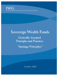 Sovereign Wealth Funds: Generally Accepted Principles and