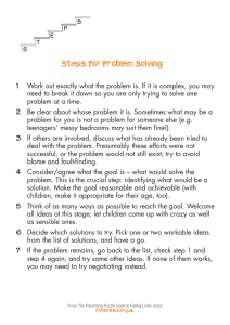Steps for Problem-solving