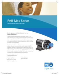 PAR-Max 7.0 Promotional Sheet - Xylem Flow Control