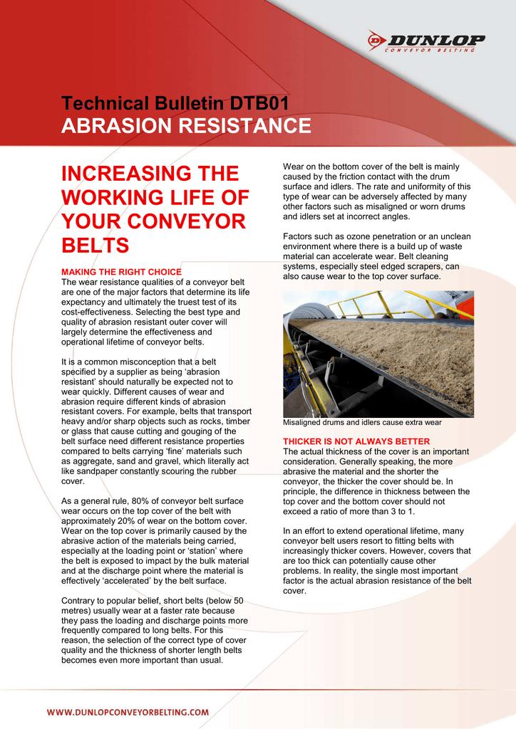 Technical Bulletin DTB01 Abrasion Resistance