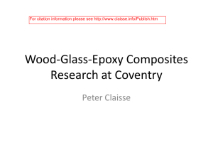 Wood-Glass-Epoxy Composites Research at Coventry