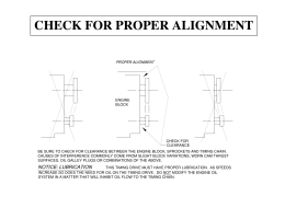 check for proper alignment