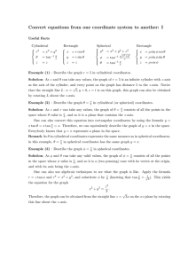 Convert equations from one coordinate system to another: I