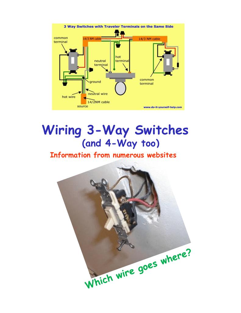 Way Switch Wiring Also 3 Way Switch Wiring Diagram Also 4 Way