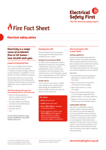 Fire Fact Sheet - Electrical Safety First