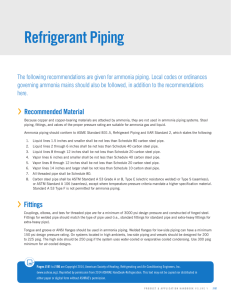 Refrigerant Piping - Baltimore Aircoil Company
