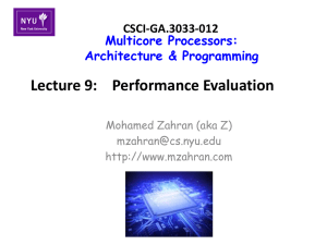 Lecture 9: Performance Evaluation