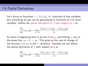 7.4 Partial Derivatives