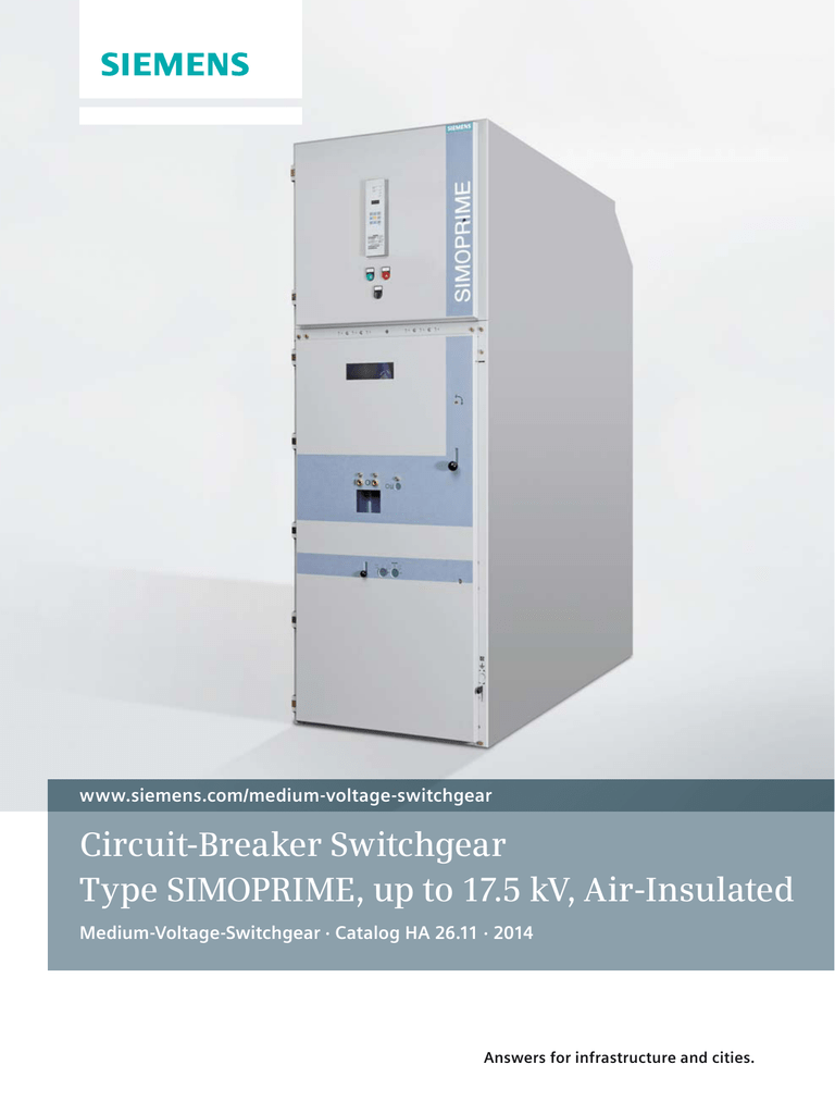 Circuit Breaker Switchgear Type Simoprime Up To 175 Kv Air Does Altitude Affect Operation Breakers Work