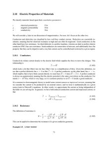 2.10 Electric Properties of Materials