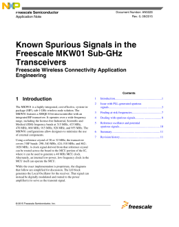 Known Spurious Signals in the Freescale MKW01 Sub-GHz