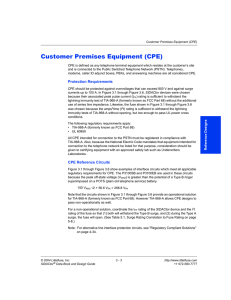 Customer Premises Equipment (CPE)