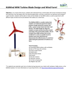 KidWind MINI Turbine Blade Design and Wind Farm!