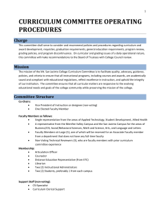 curriculum committee operating procedures