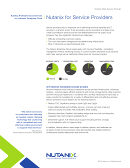 Nutanix for Service Providers