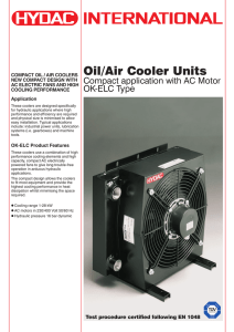 Oil/Air Cooler Units - HYDAC International