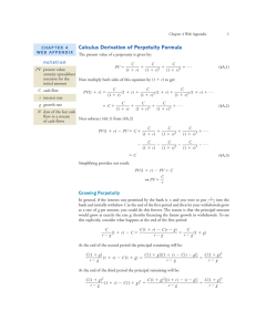 Calculus Derivation of Perpetuity Formula