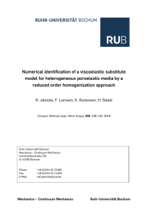 Numerical identification of a viscoelastic substitute model for