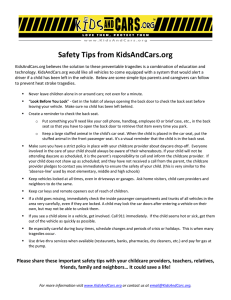 Safety tips from KidsAndCars.org