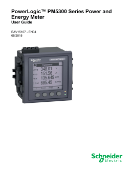 "powerlogic power monitoring units pm5350 power meter technical powerlogicâ""¢ pm5300 series power and"
