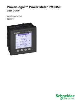 """powerlogic power monitoring units pm5350 power meter technical powerlogicâ""""¢ power meter pm5350"""