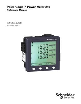 """powerlogicâ""""¢ dm6000 series digital meters"""