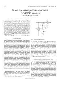 Novel Zero-Voltage-Transition PWM DC–DC Converters