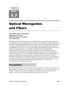 Optical Waveguides and Fibers