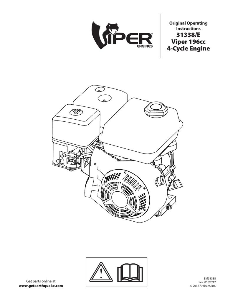 31338 E Viper 196cc 4 Cycle Engine Four Diagram