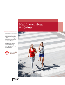 Health wearables: Early days